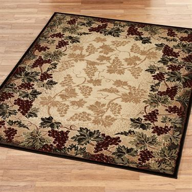 Beaujolais Ii Grape Area Rugs Kitchen Decor Themes Tuscan Decorating Rugs