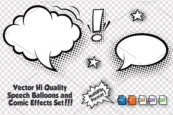 Comic Speech Bubbles Vector Set By Fourleaflover On