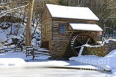 Fall In The Country Featured Images - Winter Mill by Paul Ward