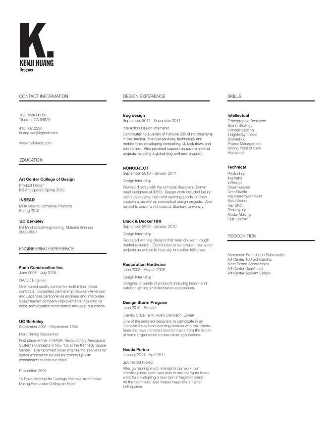KenjiS Resume  KenjiS Portfolio  Cv    Resume Cv