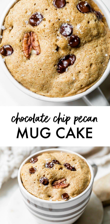 Healthy 2-minute Chocolate Chip Mug Cake made with whole ...