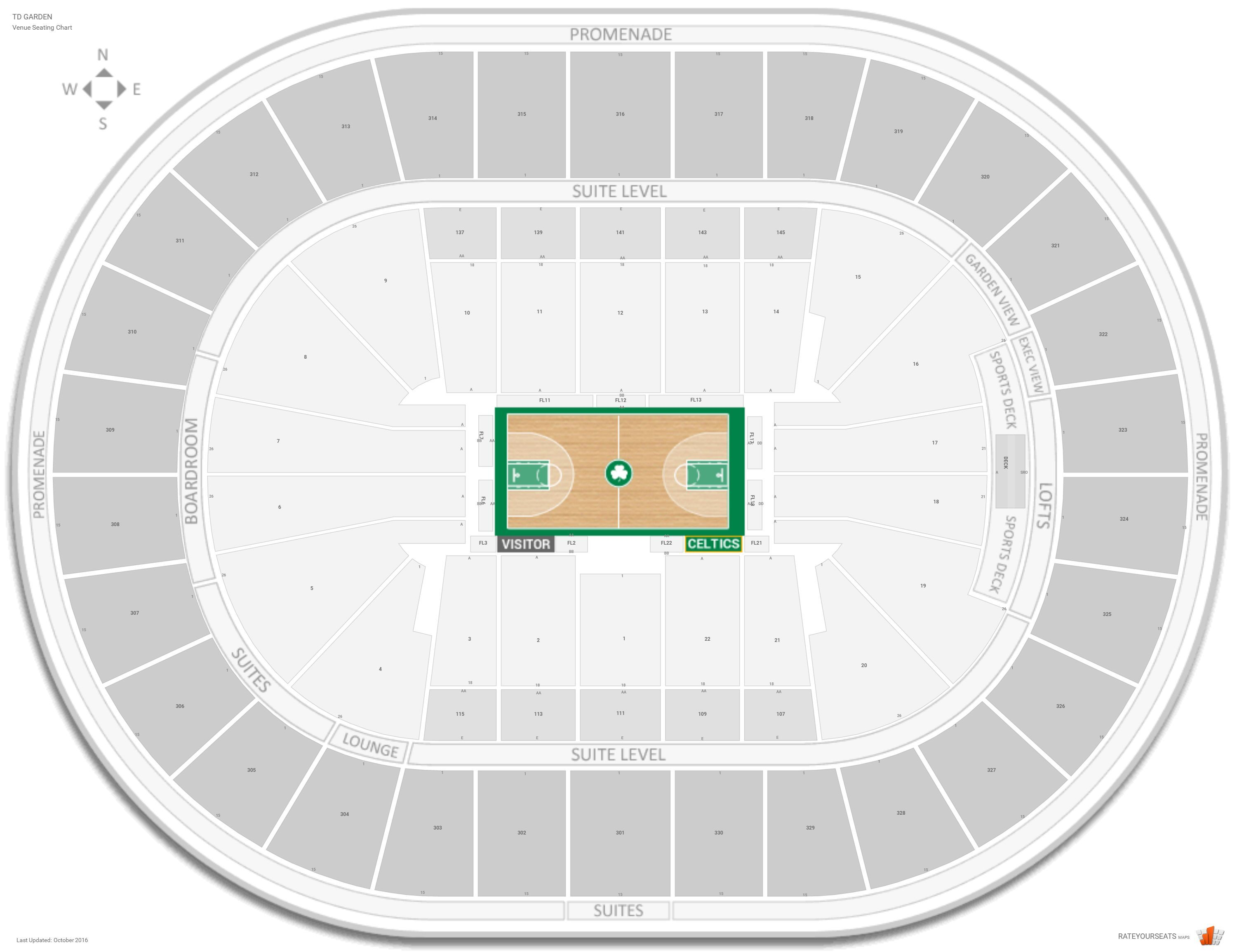 Td Garden Seating Chart With Rows In 2020 With Images Garden