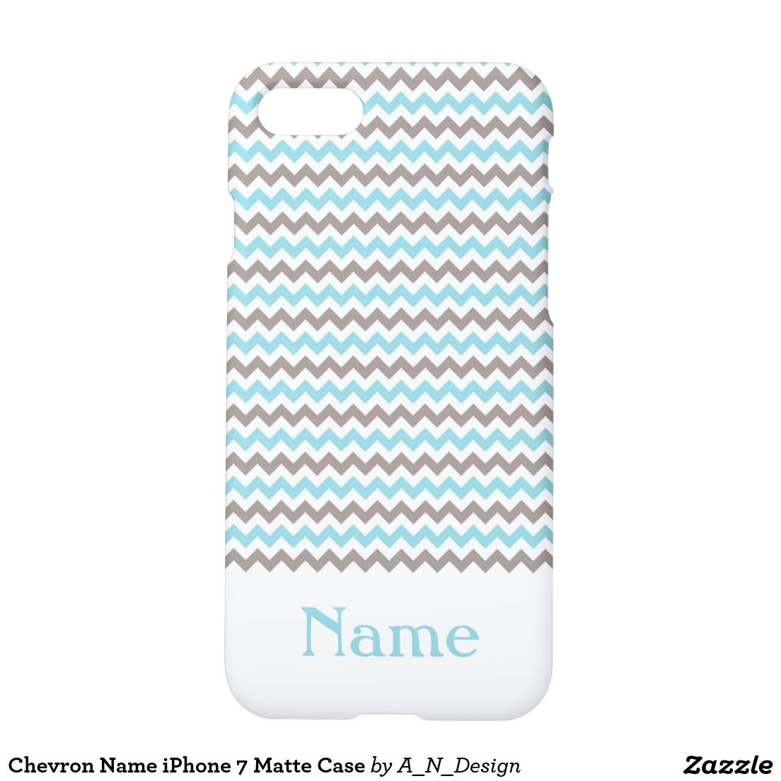 Chevron Name iPhone 7 Matte Case Zazzle