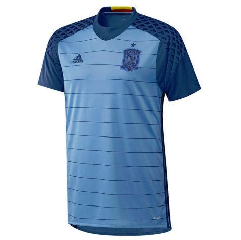 Spain Euro 2016 Goalkeeper Blue Soccer Jersey Shirt Cheap Soccer Jerseys Discount Football Shirts Gogoalsh In 2020 Soccer Jersey Retro Football Shirts Goalkeeper