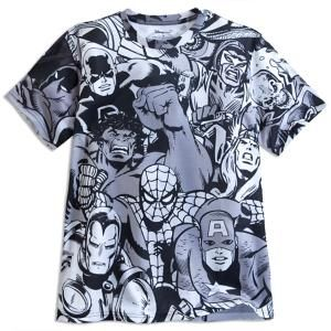 Marvel Comics Collage Tee for Men | Marvel ShopMarvel Comics Collage Tee for Men - Your outfit will get a punch of style with our Marvel Comics Collage Tee for Men. Featuring Hulk, Spider-Man, Captain America, Iron Man and more, this super hero tee brings the Marvel Universe together in a classic black and white print.
