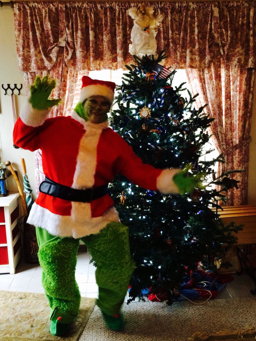 I Bought My Santa Coat At Party City It Was About 20 00 The Look On The Kids Faces At The Christmas P Grinch Costumes Party City Costumes Christmas Parade