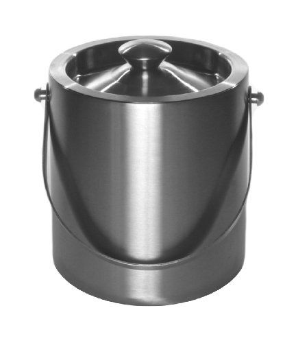 Mr Ice Bucket 2611 Brushed Stainlesssteel Ice Bucket 2 Quart Click Image For More Details This Link Partici Brushed Stainless Steel Steel Bucket Stainless
