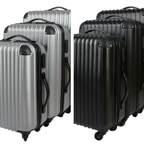 Suitcase Luggage Set 3 Bag Case Baggage Trolley Lightweight Extra ...