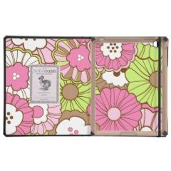 Pretty Pink Green Flowers Spring Floral Pattern iPad Covers