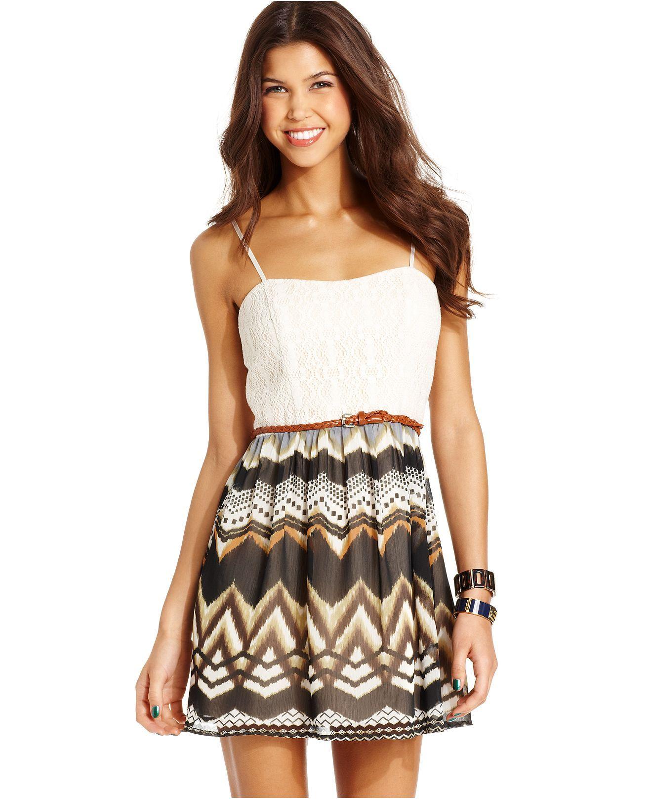 White apron macy's - Party Dresses