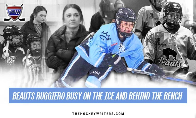 Buffalo Beauts Emma Ruggiero Busy On the Ice and Behind