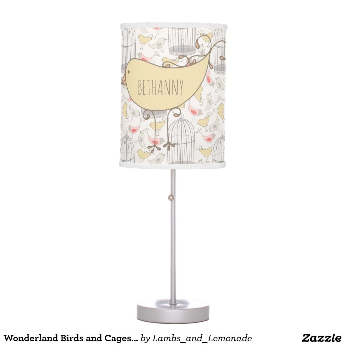 Wonderland Birds and Cages Lamp