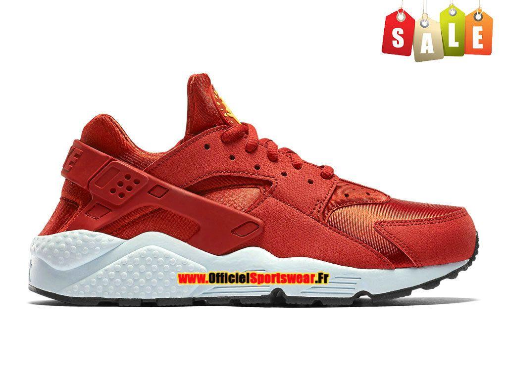 Nike Air Huarache Run Premium , Nike Sportswear Pas Cher Chaussure Pour Homme Lave piquant/Rouge 683818,800H