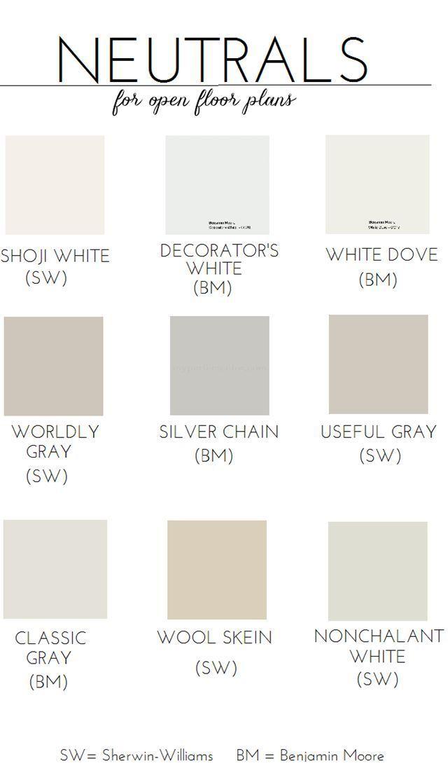 neutral paint colors open floor plan popular paint colors