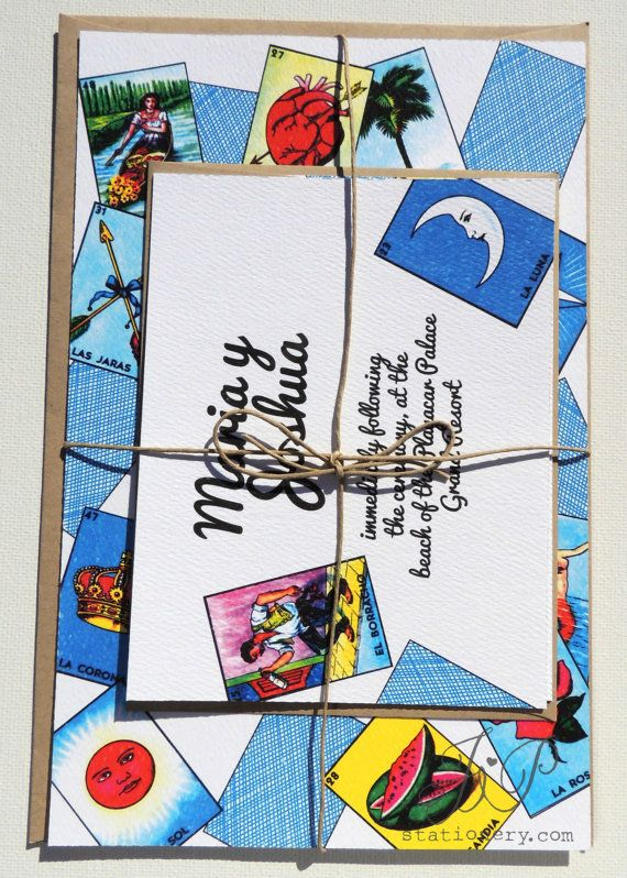 wedding invitation mexican loteria by jpstationery on etsy 4 50