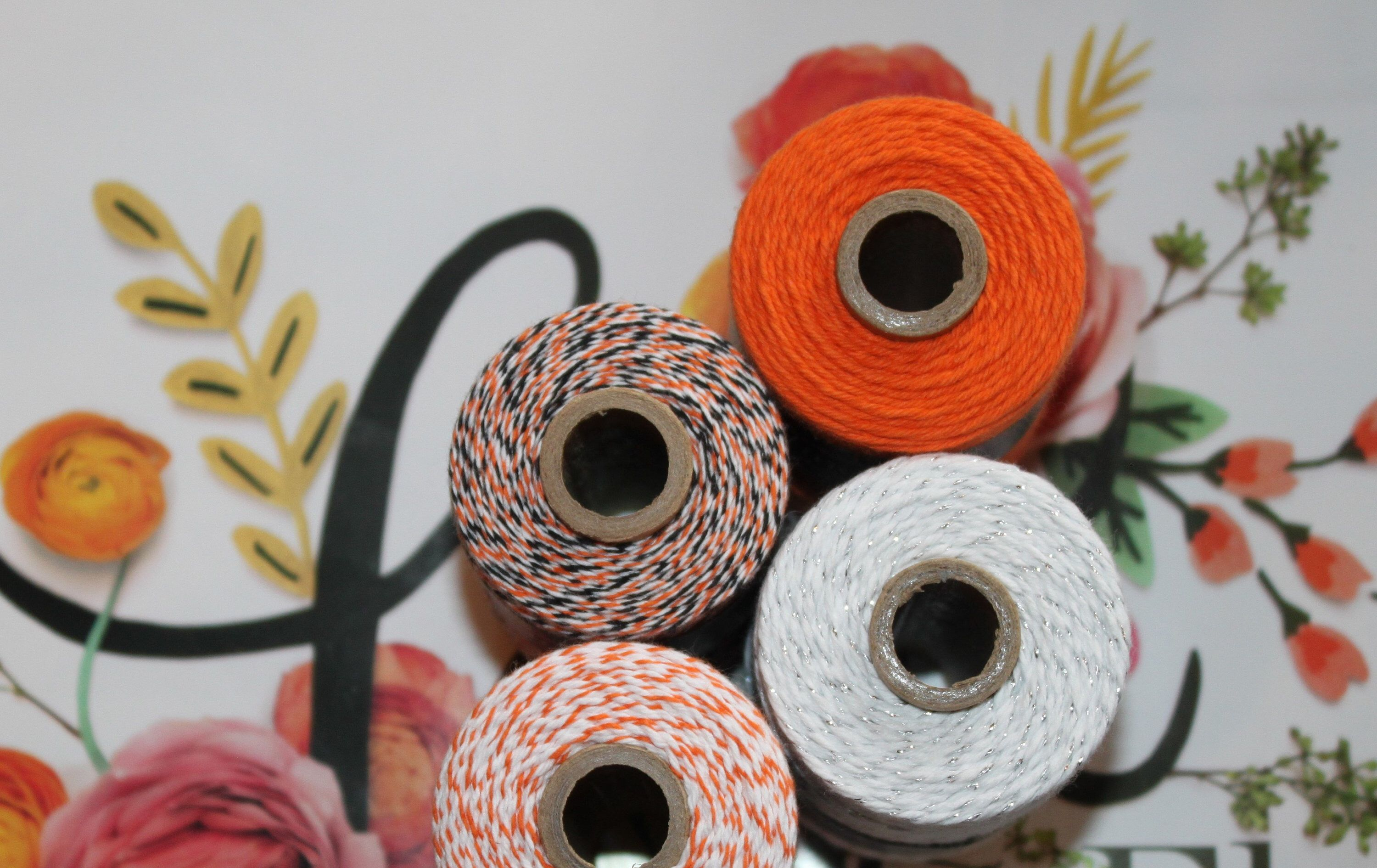 Orange solid divine twine bakers twine gift wrap diy crafts