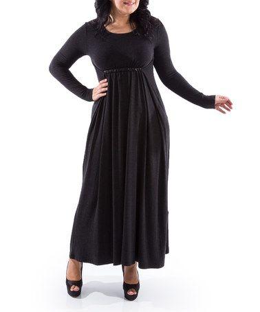 Another great find on #zulily! Black Empire-Waist Maxi Dress - Women & Plus #zulilyfinds