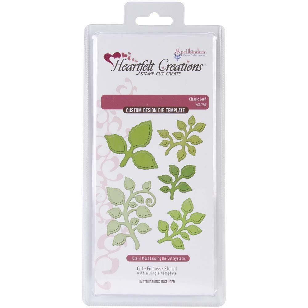 Scrapbook paper australia - Spellbinders Heartfelt Creations Cut Emboss Die Classic Leaf Australian Online Craft Supplies Scrapbooking Supplies