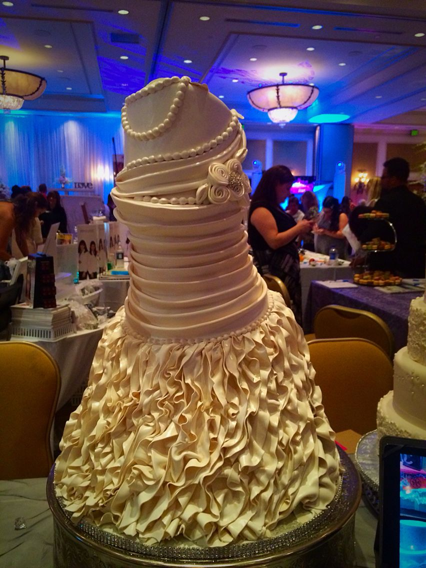 Custom wedding dress cake.