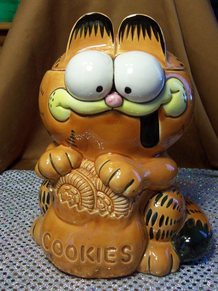 Garfield Cookie Jar Simple Vintage Garfield Cookie Jar By Enesco 6060 United Feature