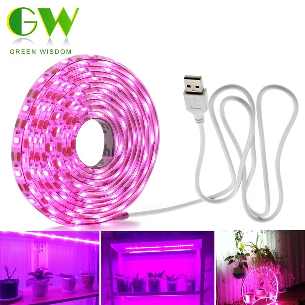 Led Grow Light Full Spectrum Usb Grow Light Strip 0 5m 1m 2m 2835 Dc5v Led Phyto Lamps For Plants Flowers Gr In 2020 Led Grow Lights Grow Lights Grow Lights For Plants