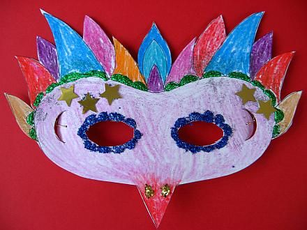Cardboard Masks To Decorate Mardi Gras Mask  My Kids Have Been Wanting A Mask Ever Since They
