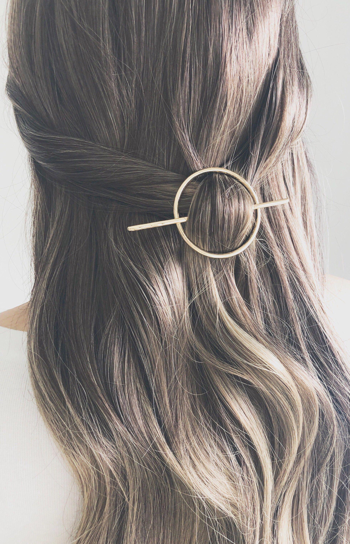 Worldbesthairstyle Gold Hair Accessories Geometric Hair Clip Metallic Hair