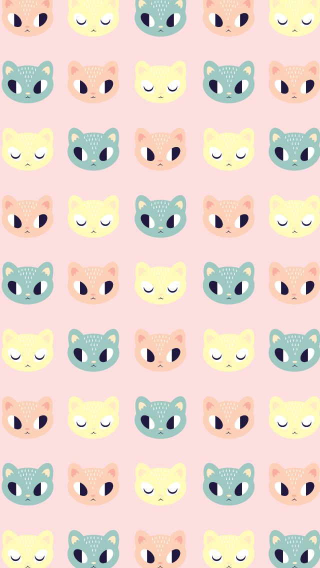 cute kitty pattern � find more epic iphone android