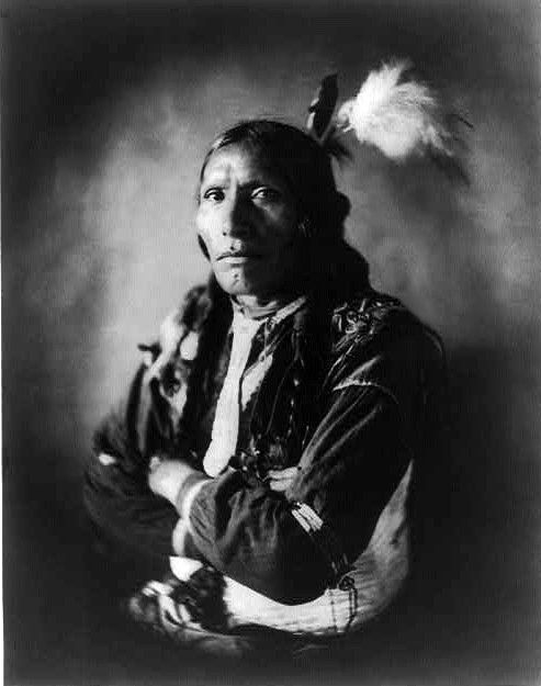 Blue Horse, Native American Sioux man.