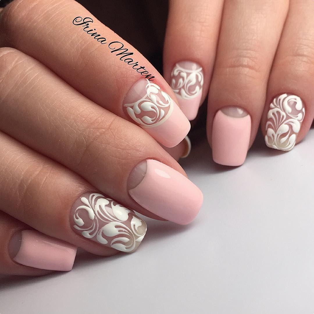 Лунный маникюр – 534 фотографии | Стильные ногти, Ногти ...