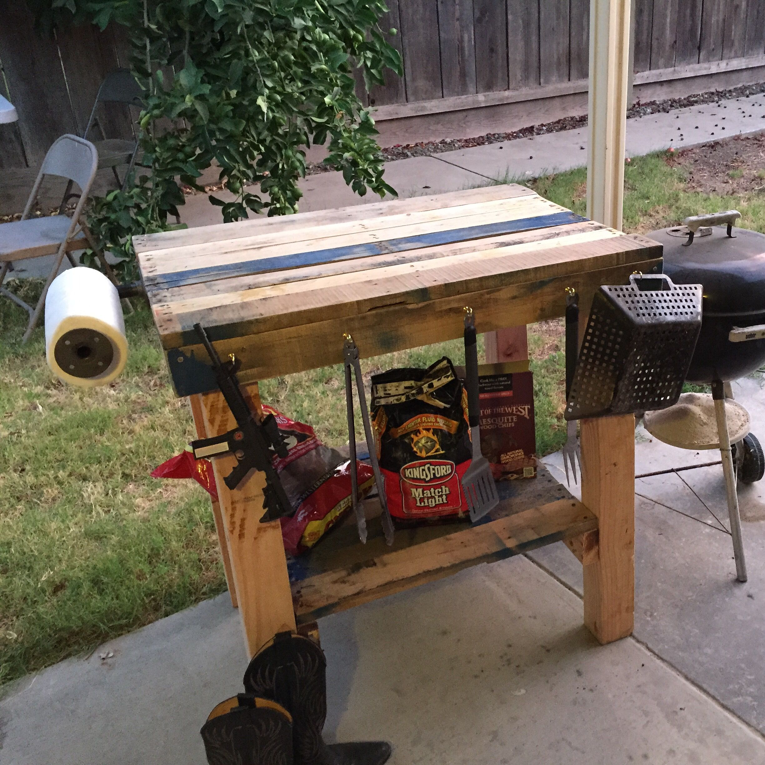 Pallet Grill Table Diy Grill Table Bbq Table Grill Table