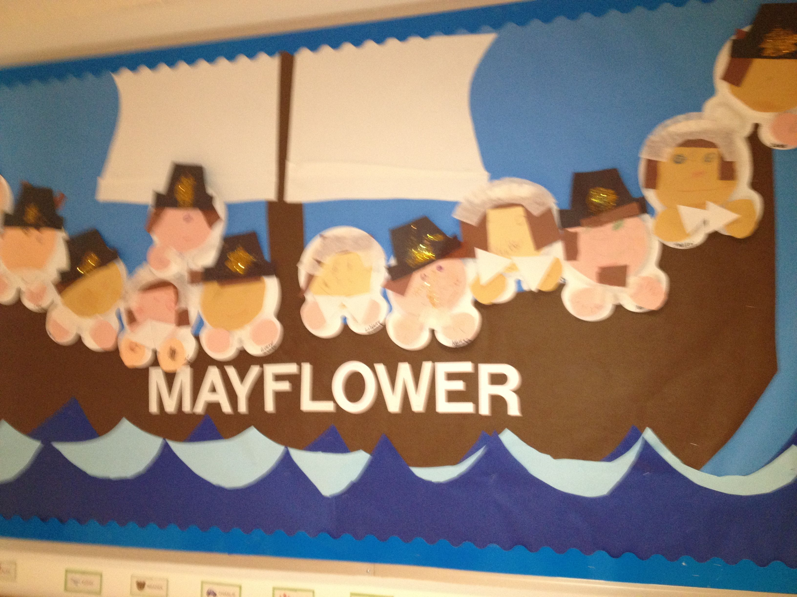 mayflower bulletin board bulletin boards and doors pinterest
