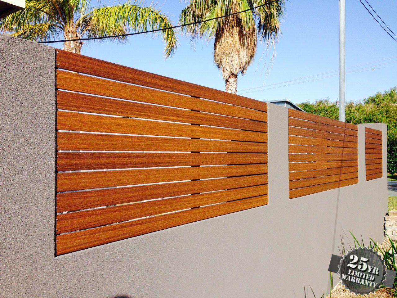 Ultrashield Slat Fencing In Teak Used For Front Fence