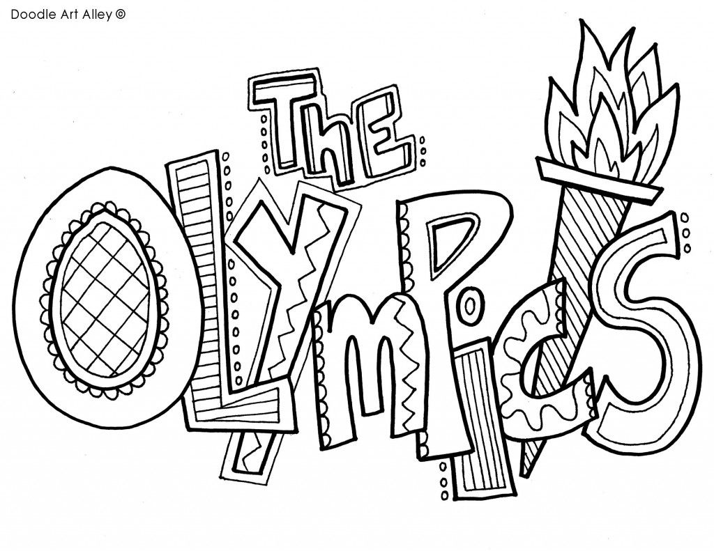 Olympics Coloring Pages February Olympics Art Kids Olympics