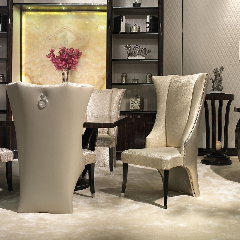 most popular wingback dining chair luxury dining room design with modern rectangle wood dining table