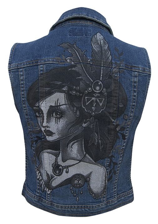Denim Vest - Wind