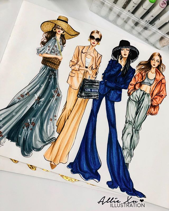 "Photo of AllieXuIllustration on Instagram: ""Here's a quote I like in fashion & style; ""Real style is never right or wrong. It's a matter of being yourself on purpose."" 💕 . . . . .…"""