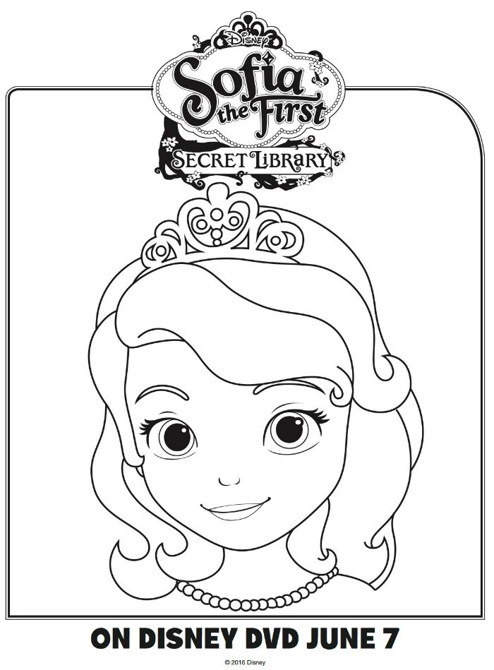 Disney Sofia The First Coloring Page Coloring Pages Sofia The First Printable Coloring Pages