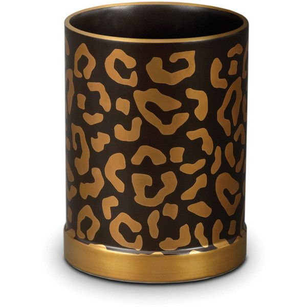 l objet leopard pencil holder gold 100 liked on polyvore rh pinterest com