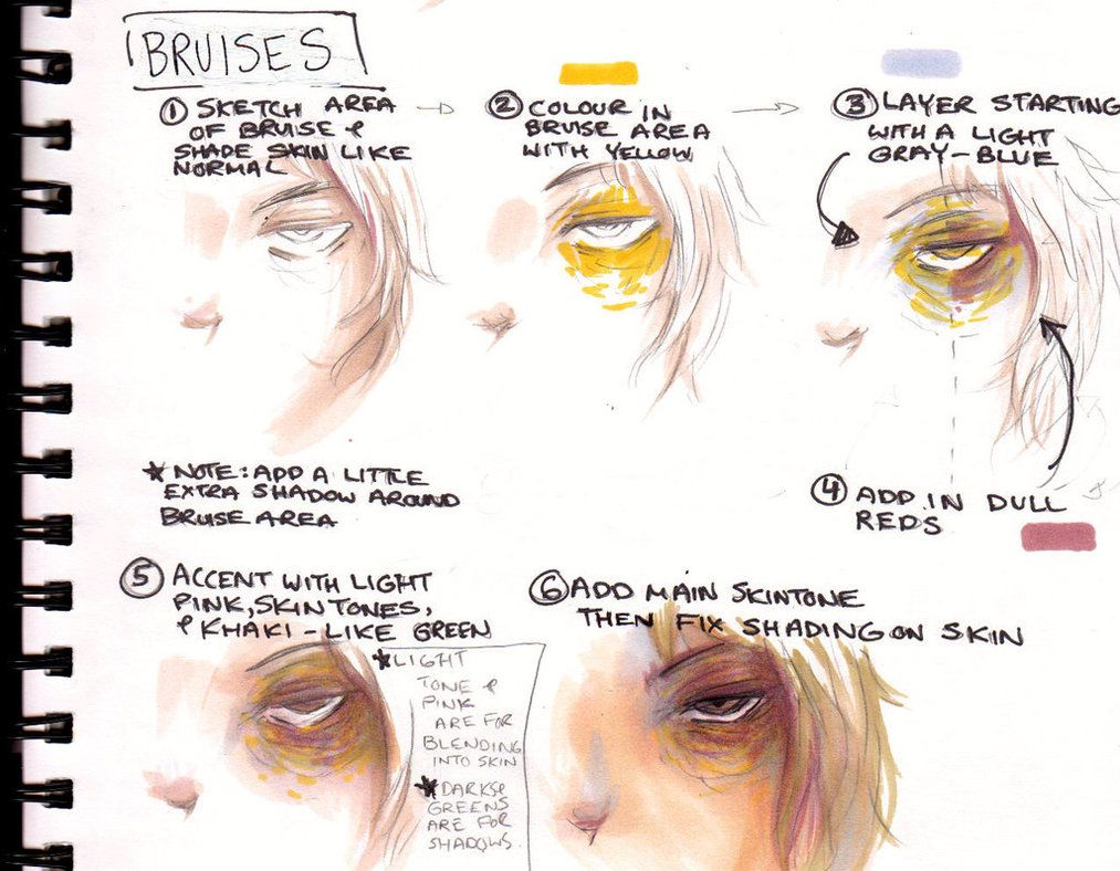 how to draw a black eye on paper
