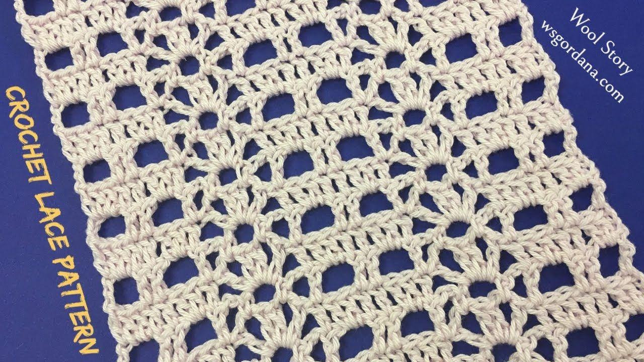 DIY Tutorial Crochet Easy Lace Pattern | tejido | Pinterest ...