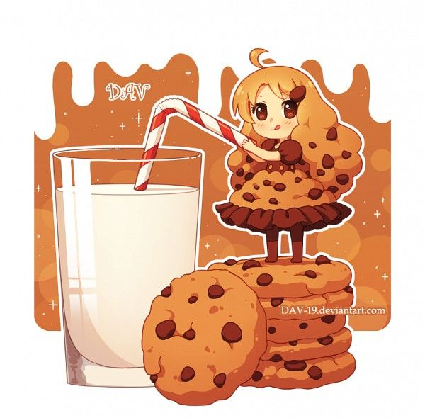 DAV-19, Cup, Cookie (Personification), Brown Outfit, Straw, Glass (Cup)