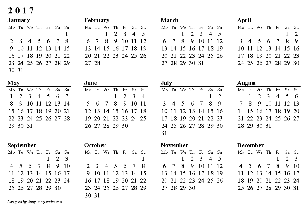 Printable Calendar  Horizontal Paper Orientation Weeks Are