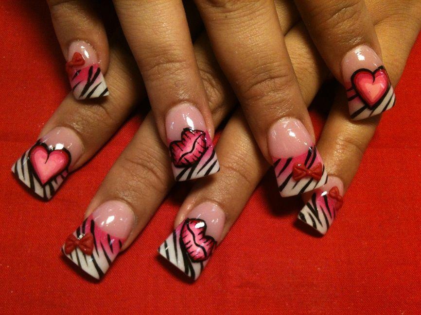 Wild Valentine Nail Art Gallery Nails Pinterest Nail Art