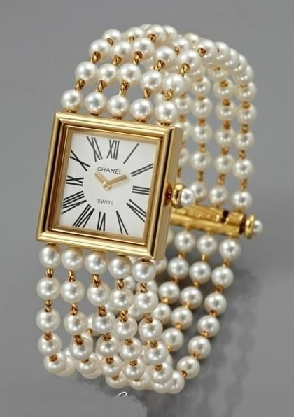 Chanel Watch with Pearl Band