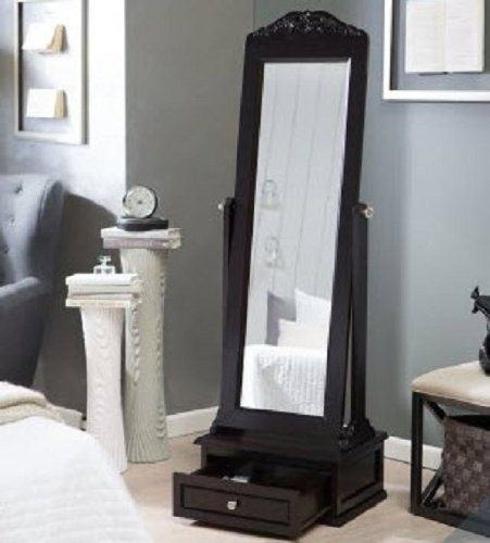 Cheval Mirror This Large Full Length Mirror Is A Free Standing Framed Floor Mirror With A Rich Espresso F Espresso Bedroom Furniture Cheval Mirror Floor Mirror