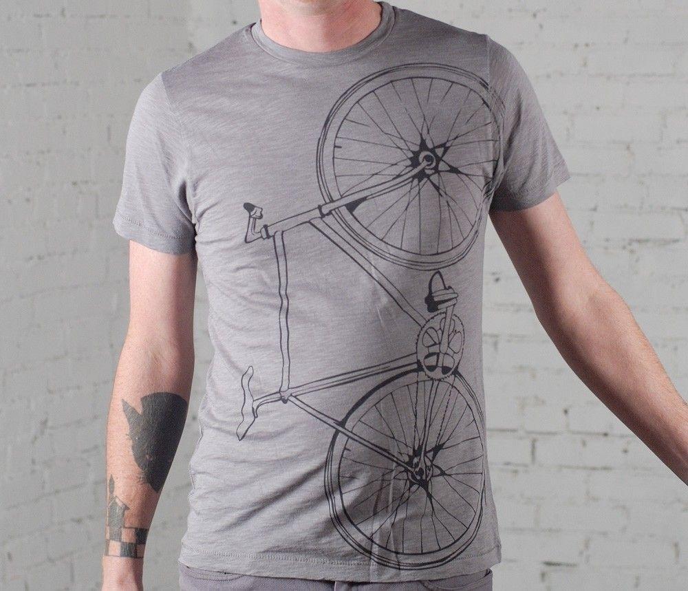 Fixie Bike T Shirt Fixed Gear Bicycle   Fahrrad t shirts