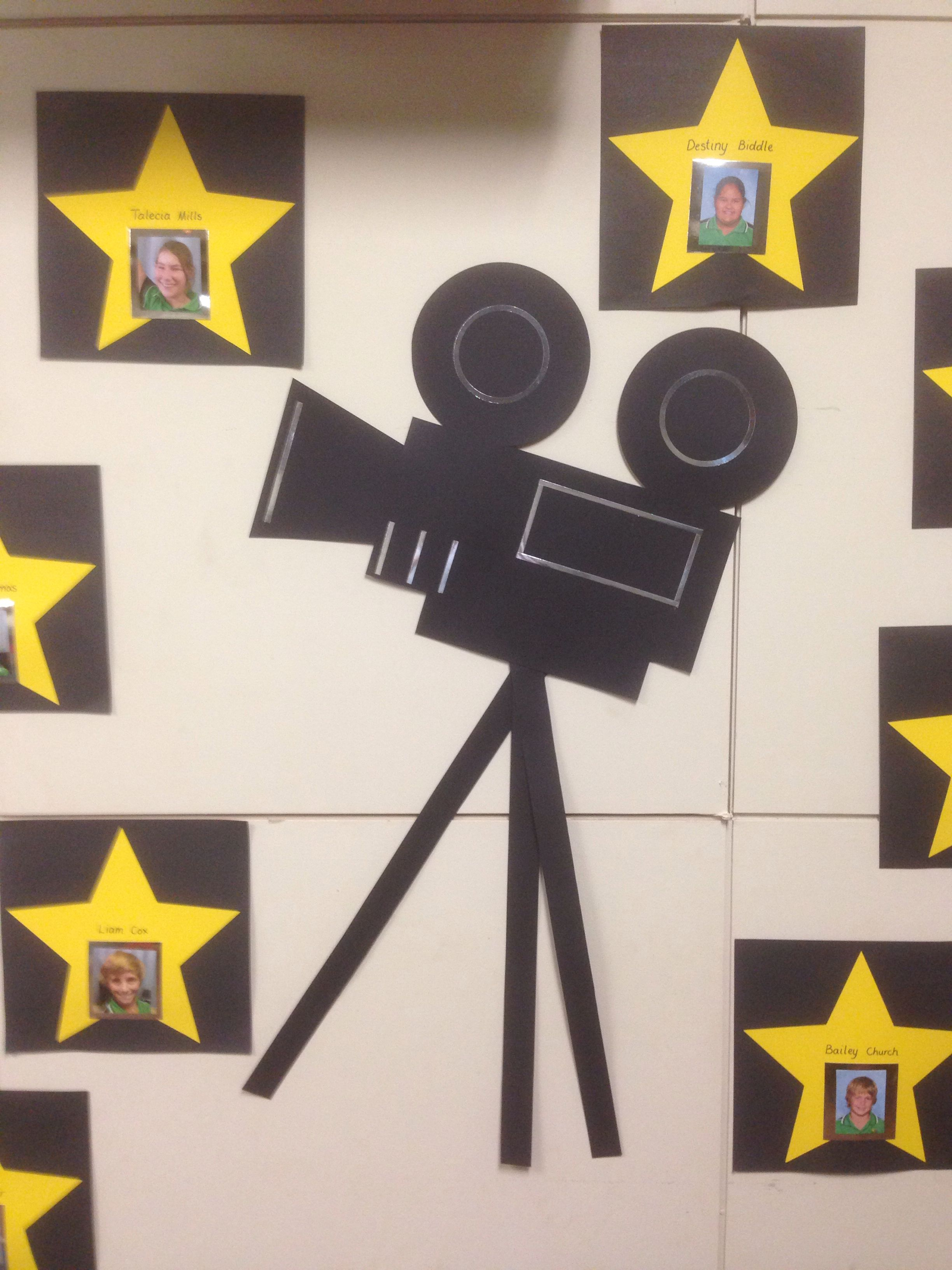 Movie Camera For Hollywood Themed Yr7 Graduation