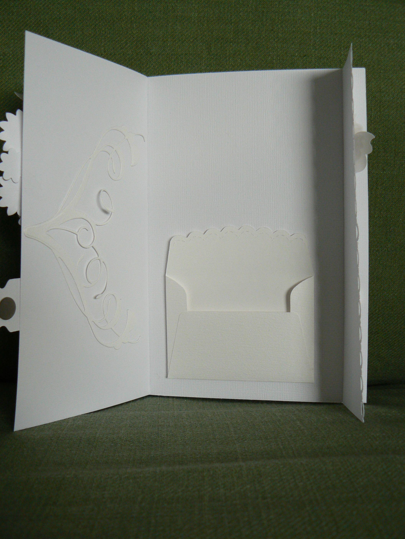 Hochzeits-Geldgeschenk Karte von innen: Briefumschlag Stampin up, Schnörkel von Memory Box