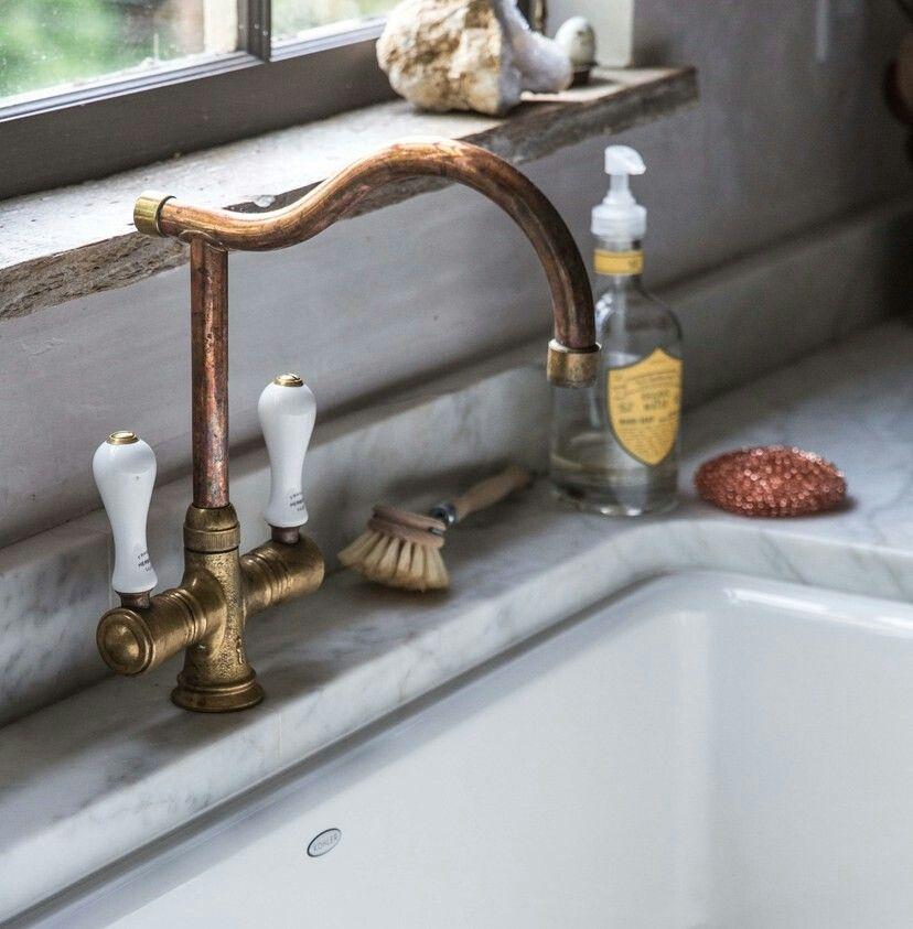 French copper faucet etsy link keukens badkamer